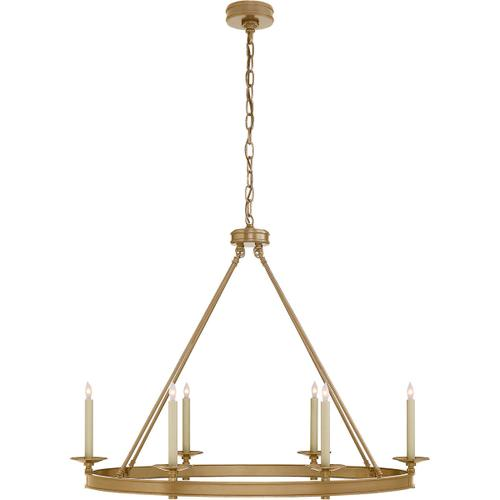 Visual Comfort - E. F. Chapman Launceton 6 Light 39 inch Antique-Burnished Brass Chandelier Ceiling Light, Large Oval