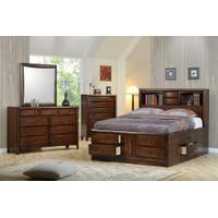 Hillary and Scottsdale Cappuccino Queen Four-piece Bedroom Set Product Image