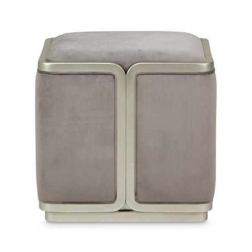 Amini - Ottoman Gray Pearl Silvermist