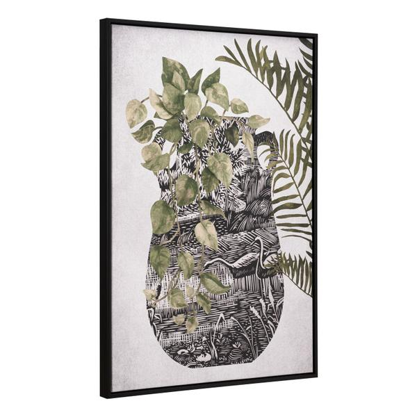 See Details - Greenery Canvas Wall Art Multicolor
