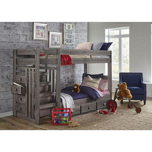 Driftwood Twin/Twin Bed Rails