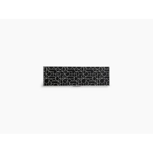 """Nero Marquina Marble 28-3/4"""" Etched Stone Insert"""