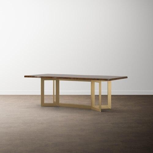 "MODERN with Bench*Made 108"" Astor Live Edge Table"