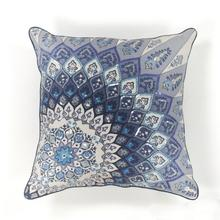 "L112 Blue Starburst Pillow 18"" X 18"""