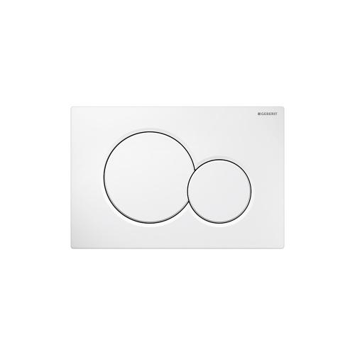 Sigma01 Dual-flush plates for Sigma series in-wall toilet systems Alpine white Finish