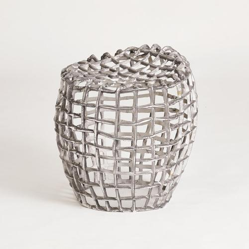 See Details - Woven Wire Stool