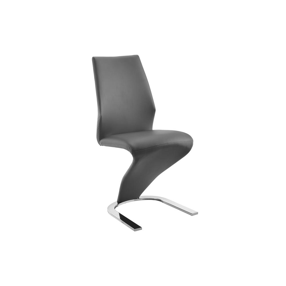 The Boulevard Dark Gray Eco-leather Dining Chair