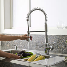 View Product - Pekoe 1-Handle Semi-Professional Kitchen Faucet  American Standard - Polished Chrome