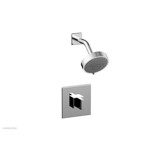MIX Pressure Balance Shower Set - Blade Handle 290-21 - Polished Chrome
