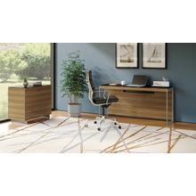 View Product - Sequel 20 6102 Console/Laptop Desk in Walnut Satin Nickel