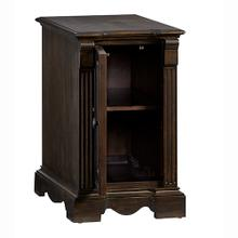 Chairside Cabinet - Walnut Finish