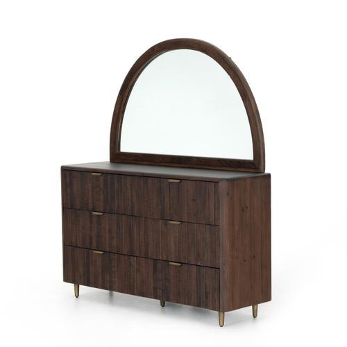 Lineo 6 Drawer Dresser W Mirror-rustic