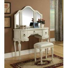 ACME Trini Vanity Desk & Stool - 90024 - White
