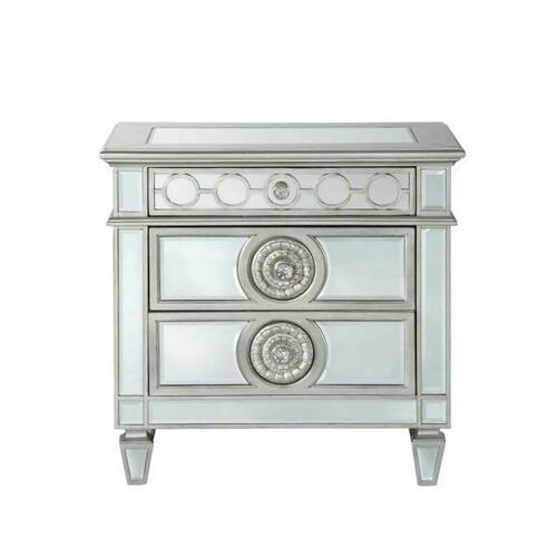 ACME Varian Nightstand - 26153 - Mirrored