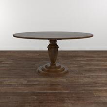 "Custom Dining 48"" Turned Ped. Wood Table"