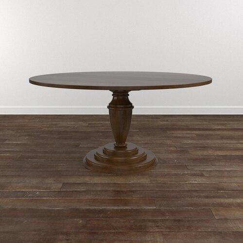 "Custom Dining 54"" Wood Table w/Splayed Base"