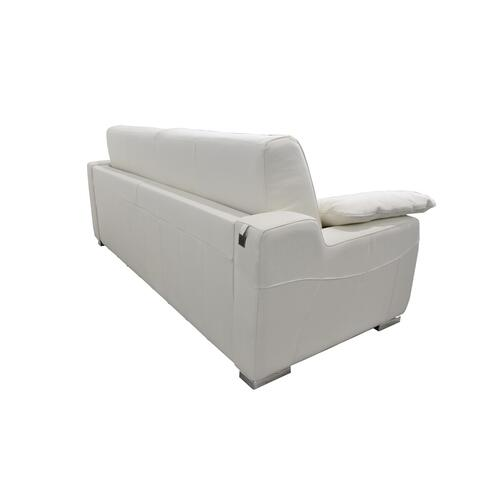 Gallery - Estro Salotti Dalia Italian Modern White Leather Sofa Bed