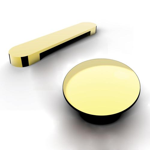 """Milan 66"""" Acrylic Double Slipper Tub - Polished Brass Drain and Overflow"""