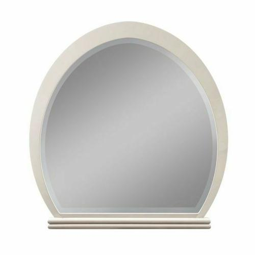 ACME Allendale Mirror - 20194 - Ivory & Latte High Gloss
