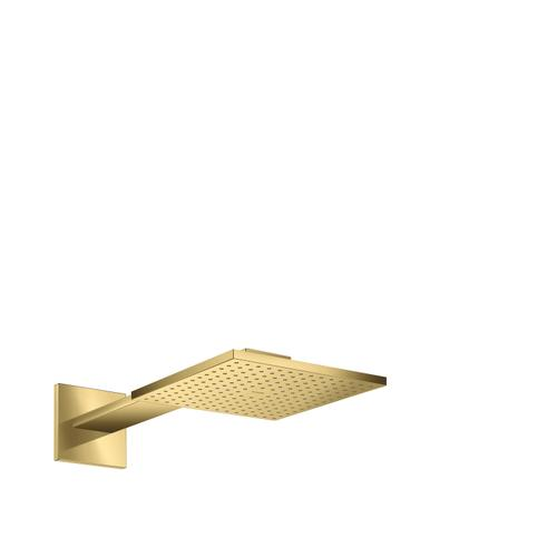 Polished Gold Optic Overhead shower 250/250 2jet with shower arm