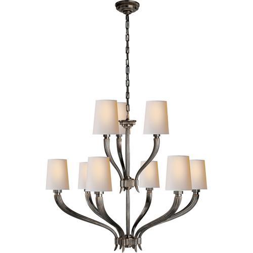 - E. F. Chapman Ruhlmann 9 Light 35 inch Bronze Chandelier Ceiling Light