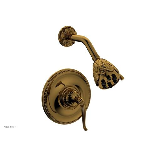 GEORGIAN & BARCELONA Pressure Balance Shower Set - Lever Handle PB3141 - French Brass