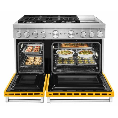 KitchenAid - KitchenAid® 48'' Smart Commercial-Style Dual Fuel Range with Griddle - Yellow Pepper
