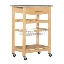 Zoey Kitchen Cart Granite Top