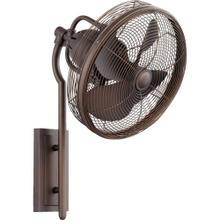 See Details - Veranda 13-in Oiled Bronze Indoor/Outdoor Wall Fan (4-Blade)