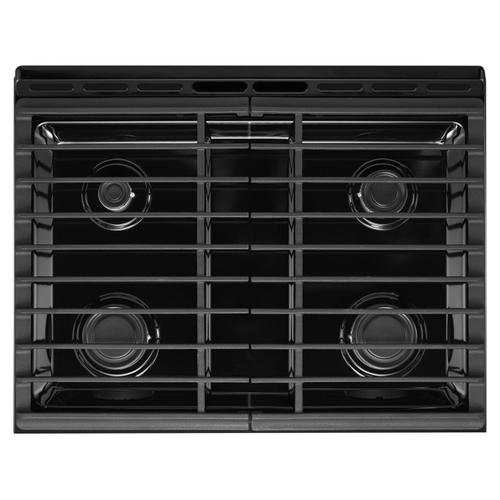 Whirlpool - 5.0 cu. ft. Front Control Gas Range with Cast-Iron Grates Stainless Steel