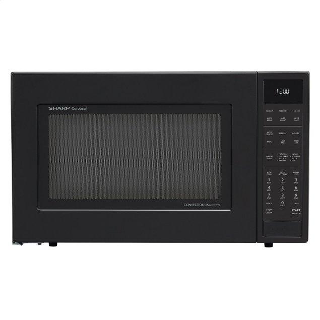 Sharp Appliances 1.5 cu. ft. 900W Sharp Matte Black Carousel Convection Microwave Oven