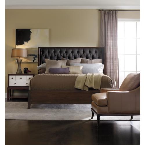 Hooker Furniture - Palisade Upholstered Shelter Queen Bed - Carbon Fabric