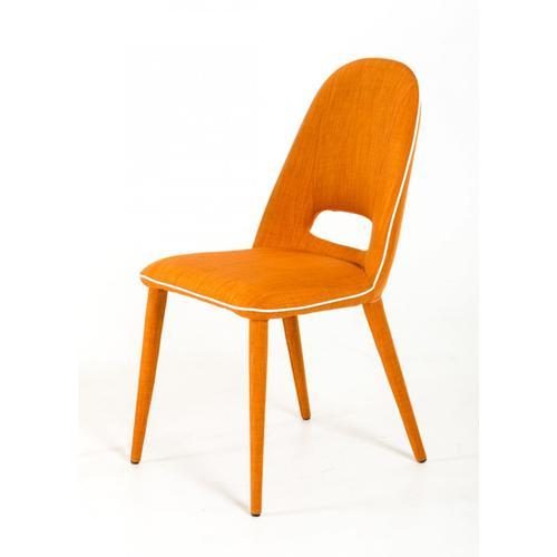 VIG Furniture - Eugene - Modern Orange Fabric Dining Chair (Set of 2)