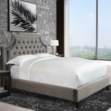 View Product - JASMINE - FLANNEL King Bed 6/6 (Grey)