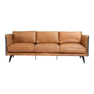 Messina Leather Sofa Cognac