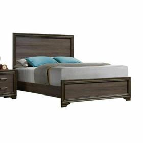 ACME Cyrille Eastern King Bed (Wooden HB) - 25837EK - Walnut