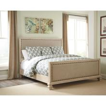 Demarlos King/Cal King UPH Panel FTBD Parchment White