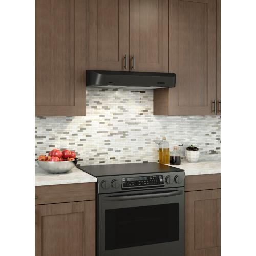 Broan® 36-Inch Convertible Under-Cabinet Range Hood w/ Easy Install System, 250 CFM, Black Stainless