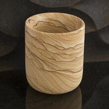 Sandstone Pencil Cup - Modern Office Decor - Stone Forest Sandstone