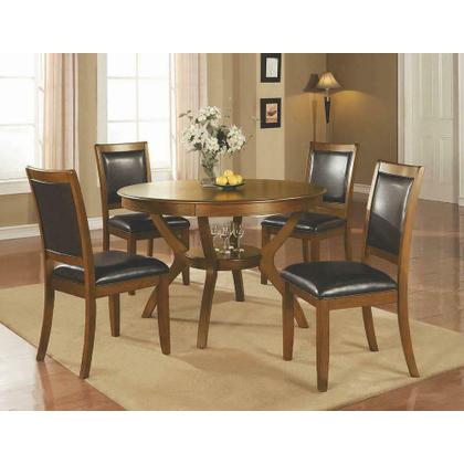 See Details - Nelms Casual Deep Brown Dining Table