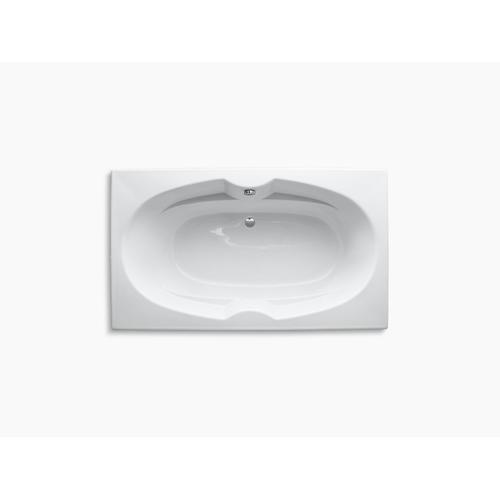 "White 72"" X 42"" Drop-in Bath With Reversible Drain"