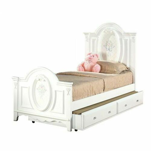 ACME Flora Twin Bed (Panel) - 01680T - White