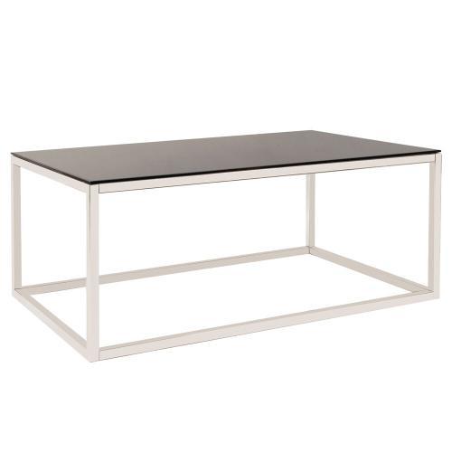 Howard Elliott - Rectangular Stainless Steel Coffee Table - Black