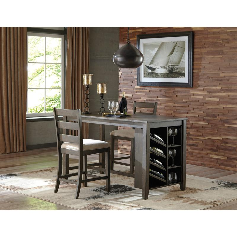 View Product - Rokane - Brown 3 Piece Dining Room Set