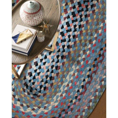 "Plymouth Colony Blue - Oval - 20"" x 30"""
