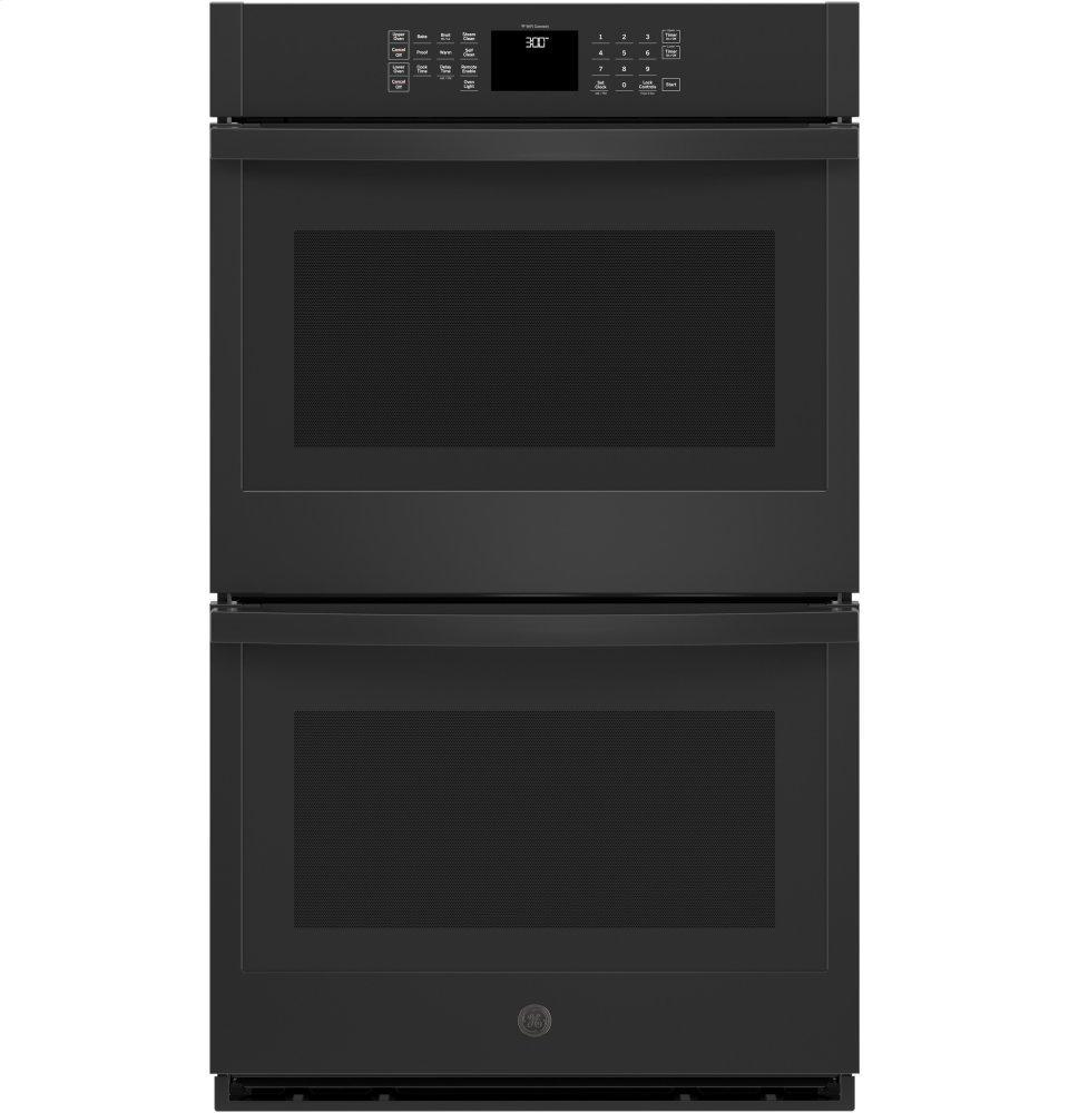 "GE30"" Smart Built-In Self-Clean Double Wall Oven With Never-Scrub Racks"