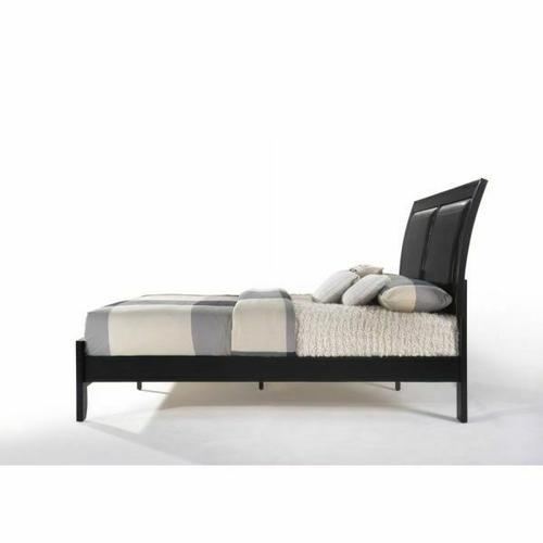 ACME Ireland I Queen Bed - 04153Q - Black PU & Black