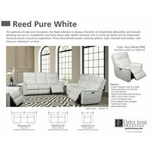 REED - PURE WHITE Power Reclining Collection