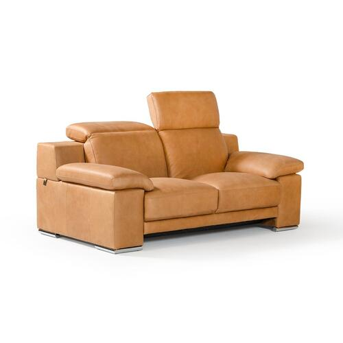 Gallery - Estro Salotti Evergreen Italian Modern Cognac Leather Sofa Set
