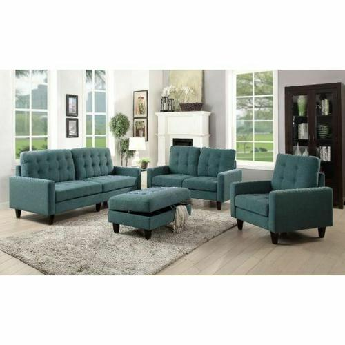 ACME Nate Chair - 50247 - Teal Fabric